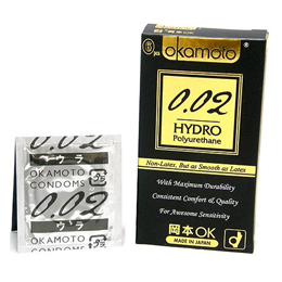 Okamoto聚氨酯002 Hydro 1宽m(6个)超薄聚氨酯避孕套!!
